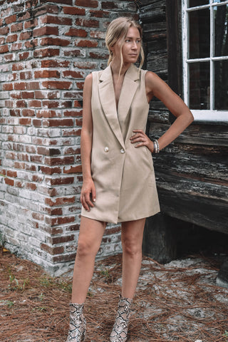 Rivage Button Down Cutout Dress