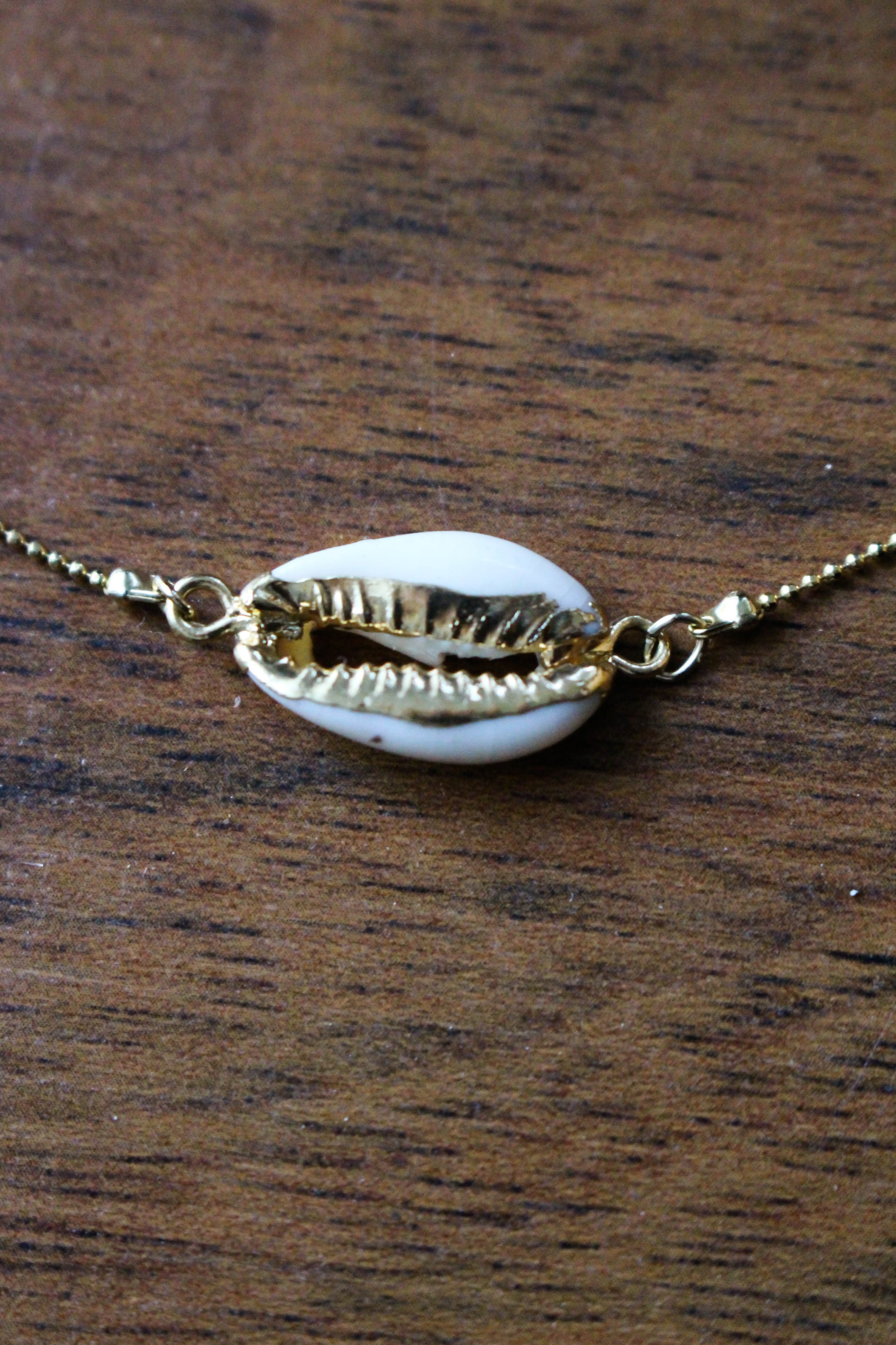 Horizontal Cowry Shell Necklace