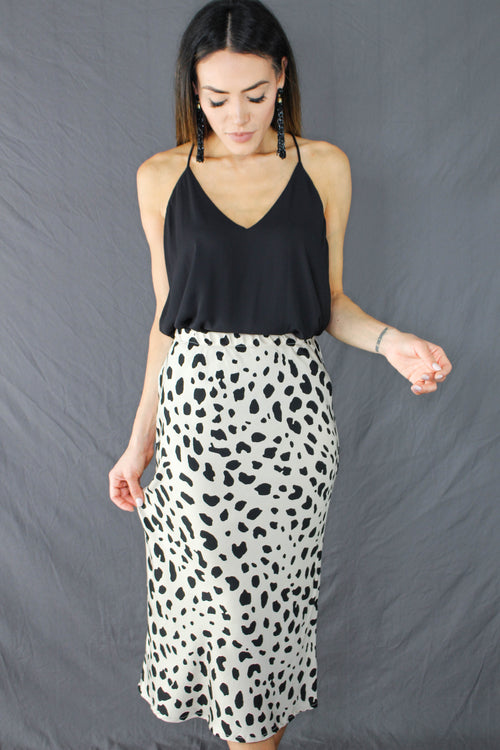 Fallon Cheetah Midi Skirt