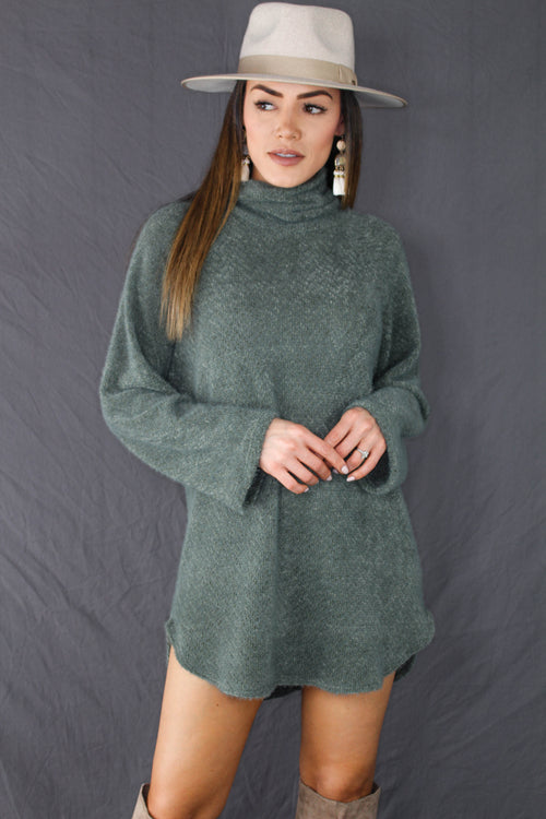 Carmel Turtleneck Sweater Dress