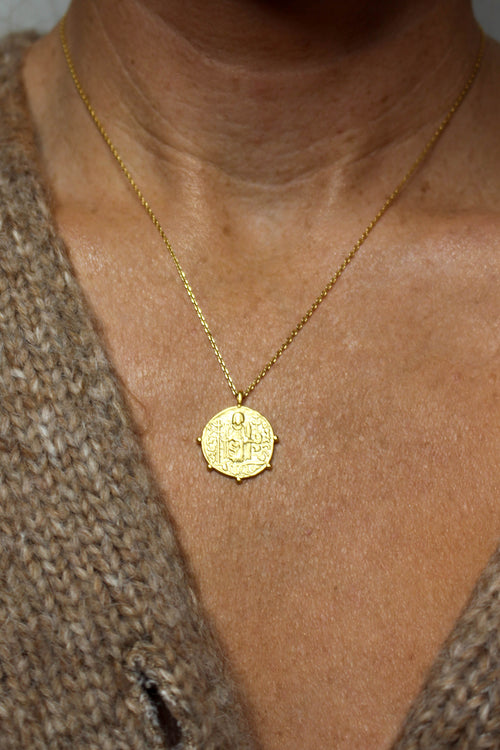 Antique Coin Necklace - GOLD