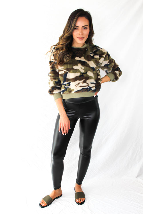 Lewiston Fuzzy Camo Sweater