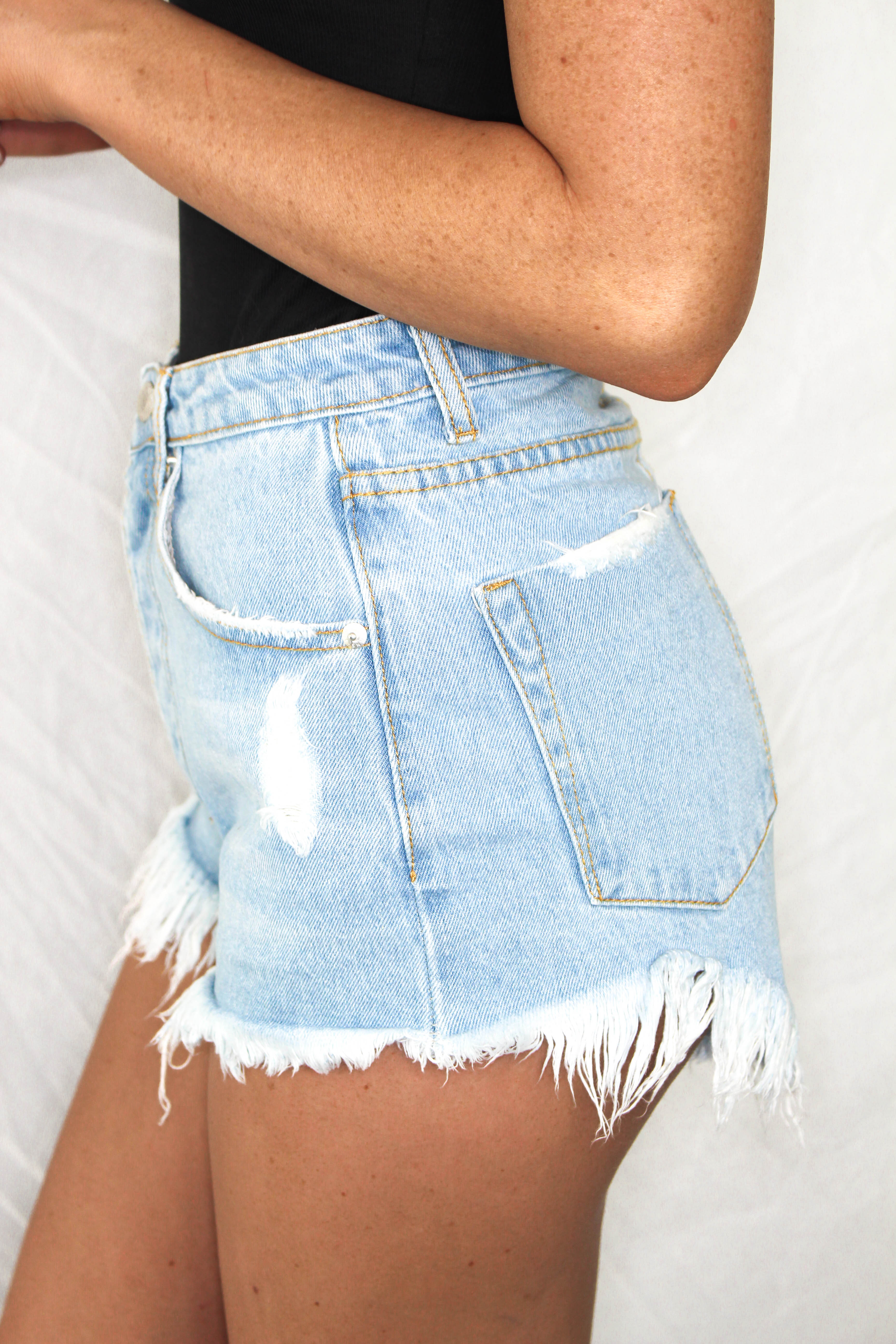 Blue Bay Denim Shorts - LIGHT