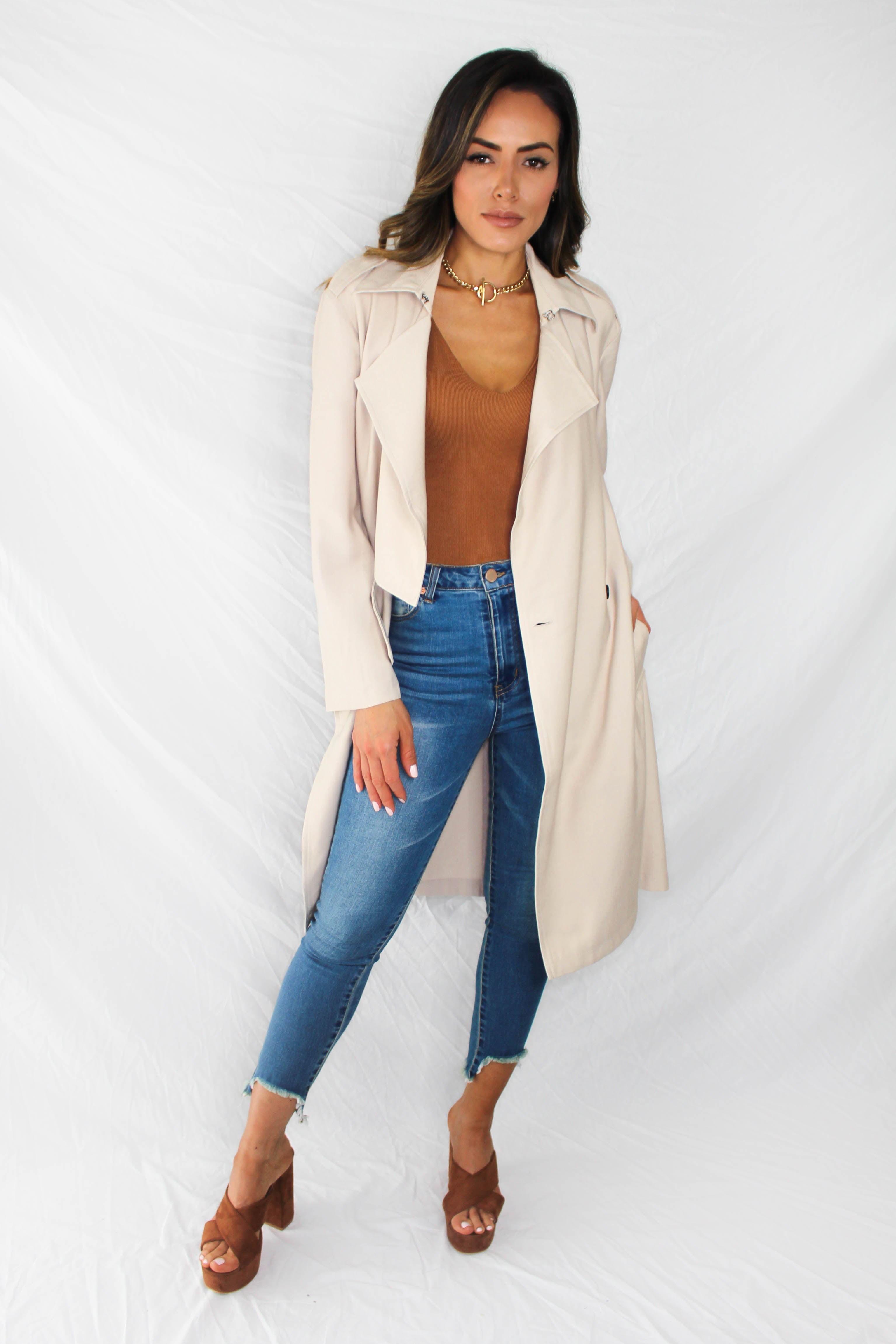 Beldon Belted Trench Coat