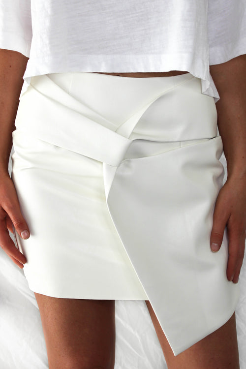 South End Faux Leather Skirt