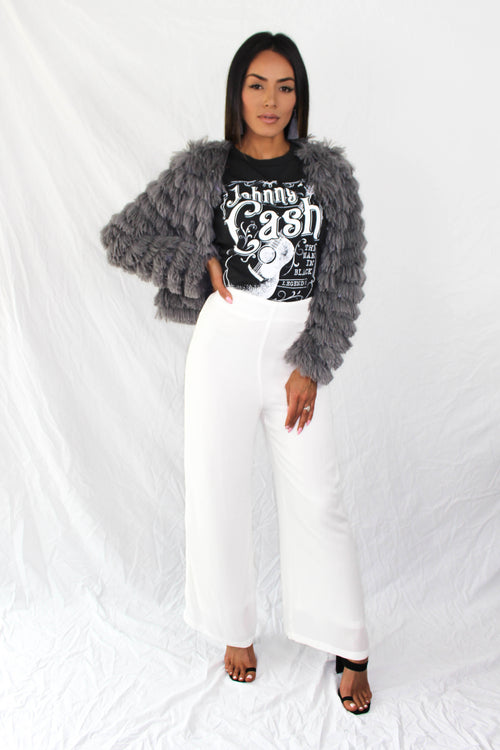 Shaggy Buffalo Jacket in Charcoal