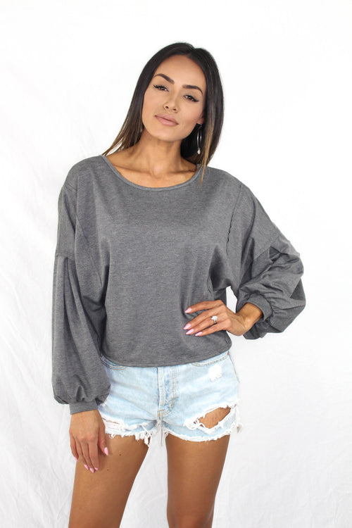 Mattie Balloon Sleeve Top