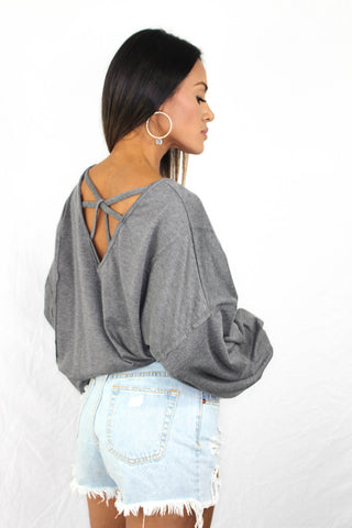 Shiloh Floral Open Back Top