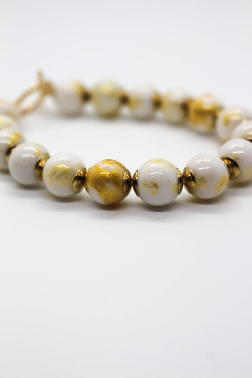 Stone Bead Stretch Bracelet