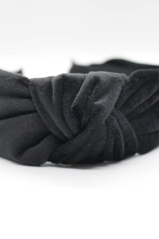 Velvet Knotted Headband - Grey
