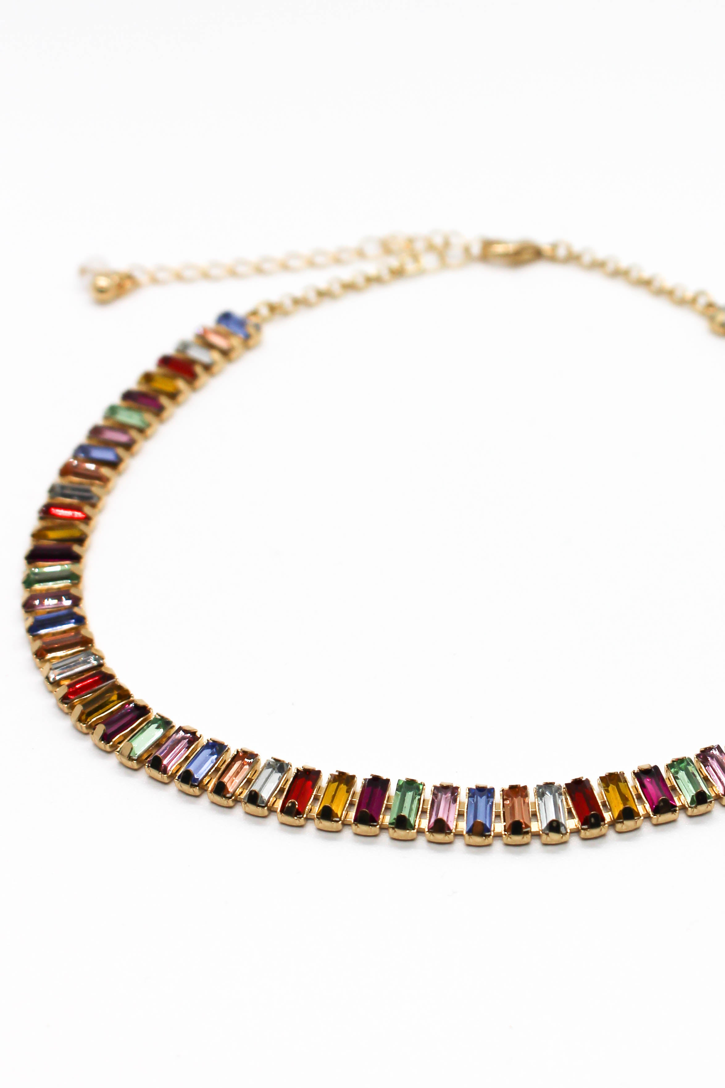 Multicolor Baguette Necklace
