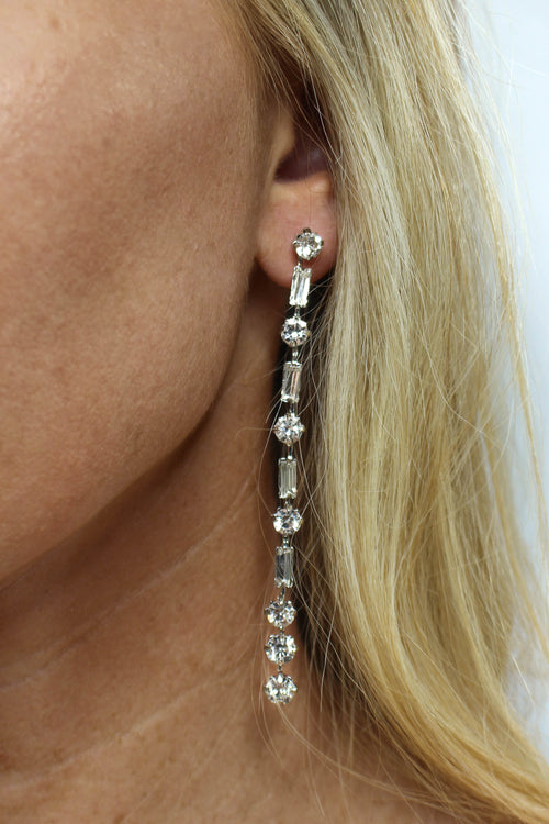 Vertical Dangle Earring - SILVER