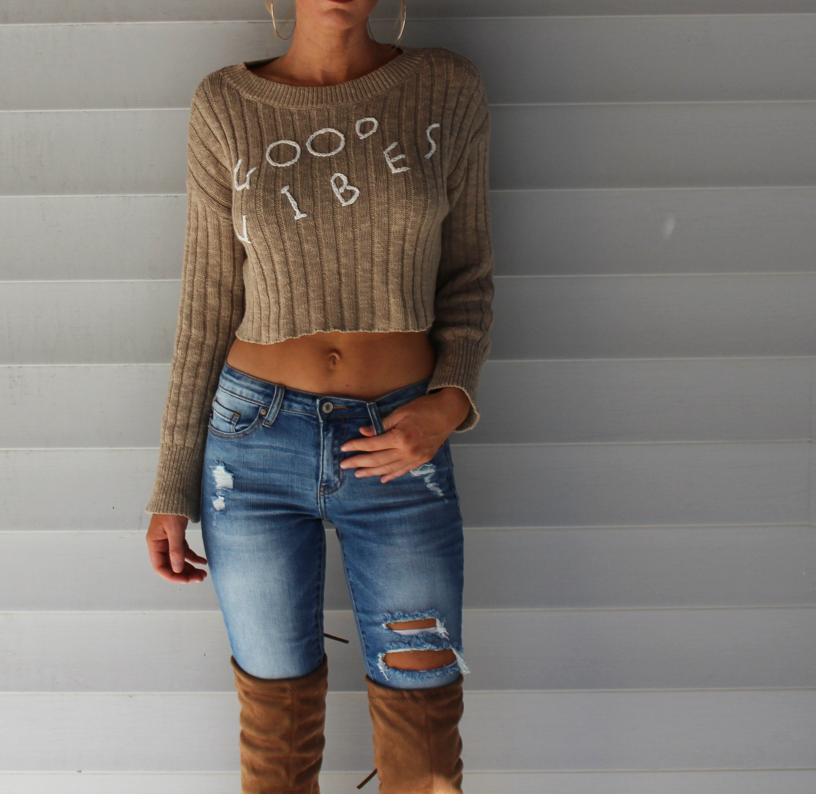 Encinitas Cropped Sweater