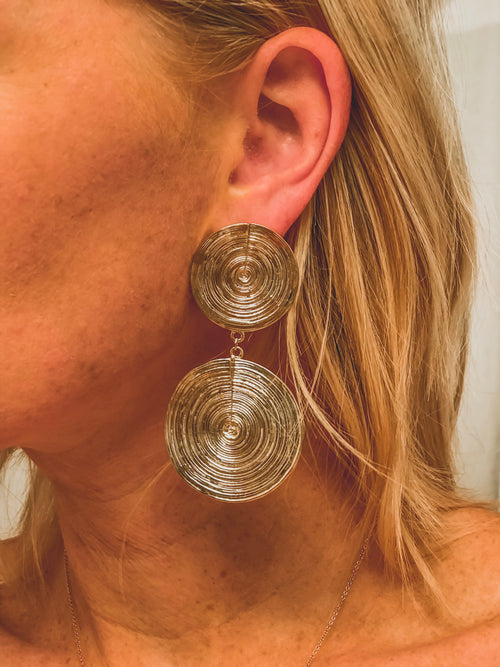 Double Coin Earring - GOLD