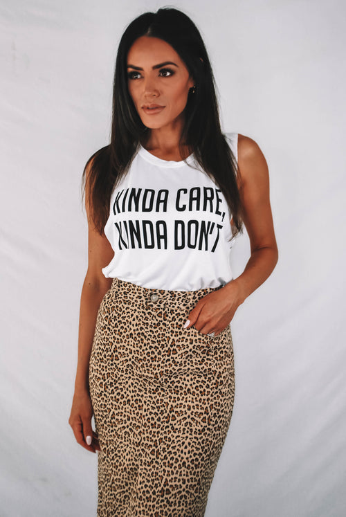 Kinda Care, Kinda Don't Graphic Tank
