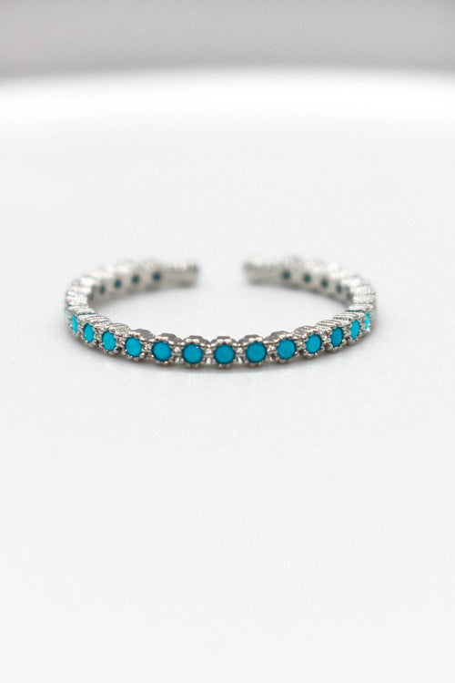 Radius Adjustable Turquoise Ring - Silver