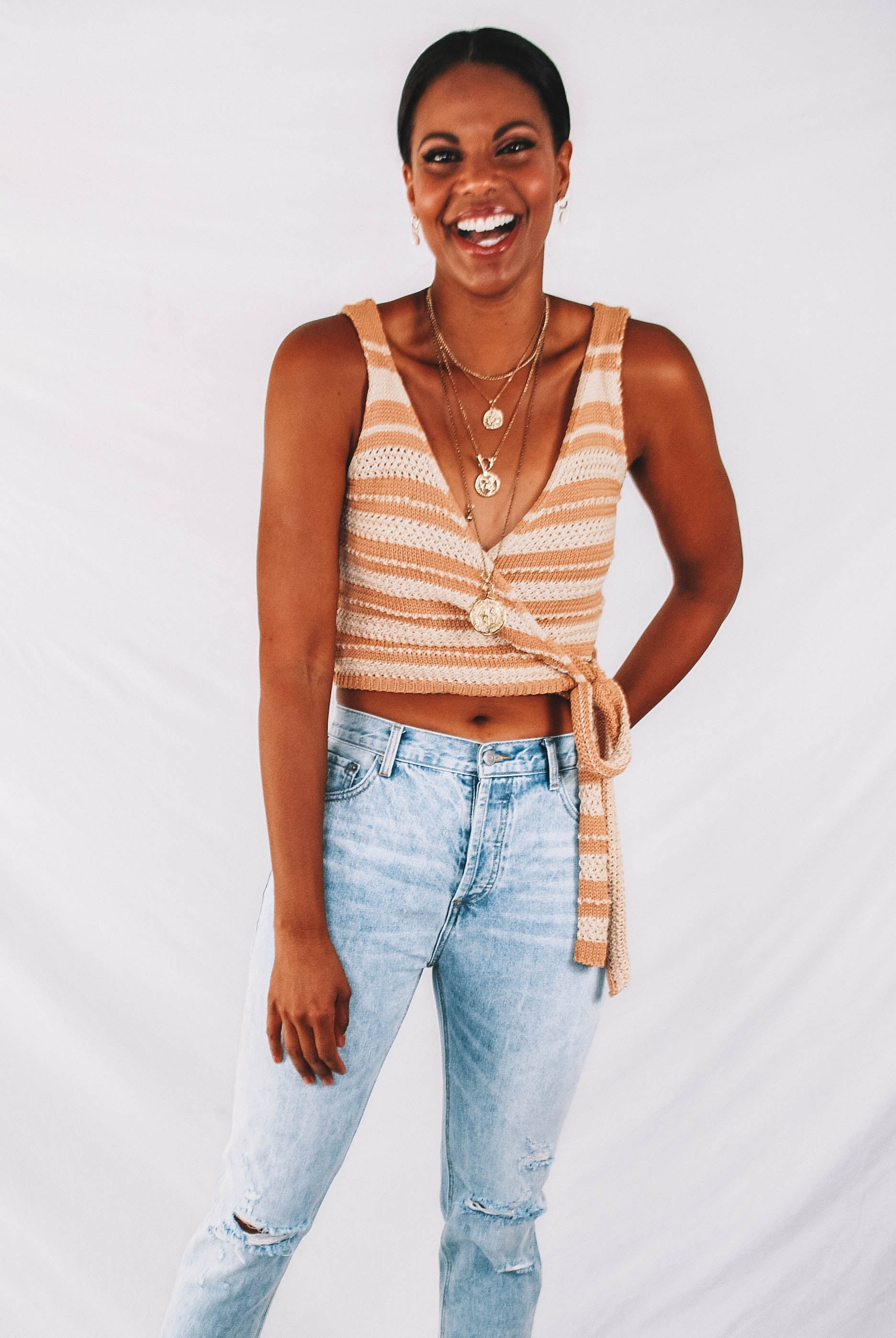 Martinez Knit Wrap Tank