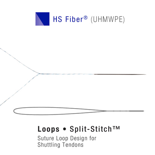 HS Fiber (UHMWPE) Suture Split Stitch