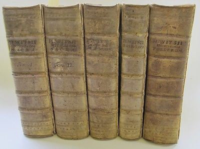 1717 Hebrew Judaica Latin Christianity Egypt Israel. By Hermanus Witsius 5 Vols