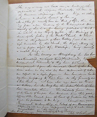 1846 John Cushman Troy, New York. Marcy, Sec of War Farm Missionary Greek Plea