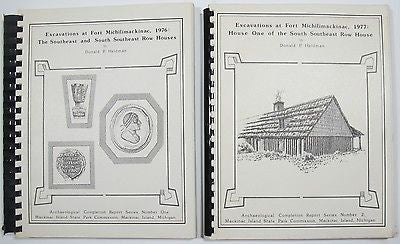 Fort Michilimackinac Lake Michigan Archaeology Architecture 2 volumes