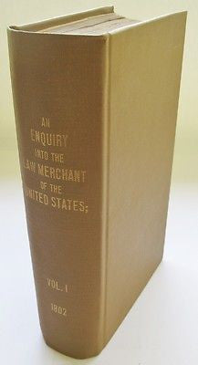1802 The First American Treatise on Commercial & Admiralty Law Thomas Jefferson