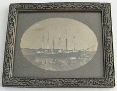 PHOTOGRAPH - FIRST OF THE 6 MASTED SCHOONERS. CAMDEN, MAINE. 1900