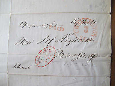 1850 CHARLESTON SOUTH CAROLINA LOCAL – STAMPLESS POSTAL – SHIPPING COTTON RICE
