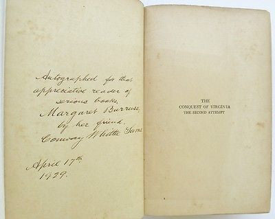 Jamestown Colony Virginia Indians Captain Newport Voyage Chesapeake Bay Signed