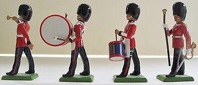 Britains Scots Guard Band. Four figures