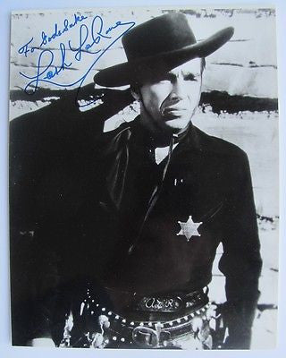 "Lash LaRue Photo Signed ""For God's Sake"" Western B Movie Star 1940s-50s Marshall"