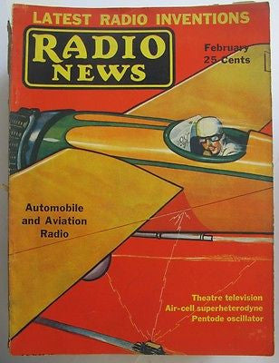 46 issues of Radio News magazine 1927-1937. Hugh Gernsback; A. Lynch; L Cockaday