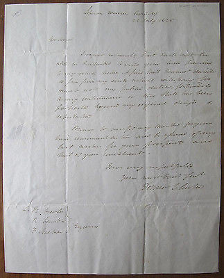 1825 DeWitt Clinton Governor of New York Autographed Letter Signed Delaware