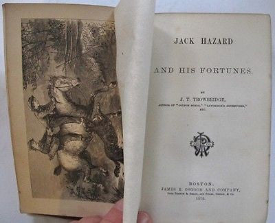Four (4) Jack Hazard Novels late 19th century Juvenile Series By Trowbridge