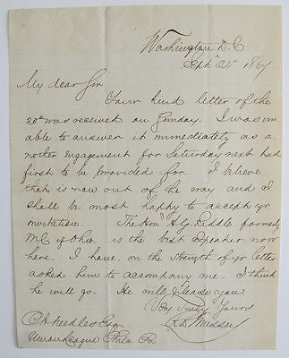 "1864 ALS ""R.D. Mussey"". U. S. Colored Troops. Washington D. C. Letter Signed"