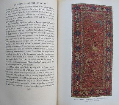 1931 Oriental Rugs And Carpets A Comprehensive Study