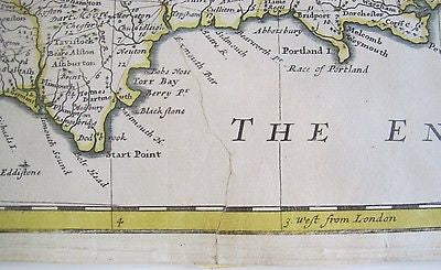 Early 18th century Map of Great Britain By Herman Moll