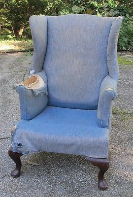 Reproduction Colonial Wing-back Chair by Colonial Williamsburg Master Craftsman