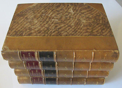 1892 A SHORT HISTORY OF THE ENGLISH PEOPLE. 4 Volumes. Half-Leather bindings