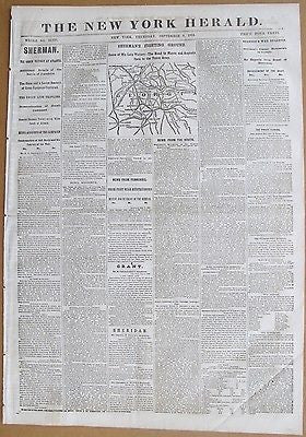 334 Civil War Newspapers Archive Maps Confederate Battlegrounds primary source