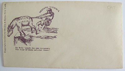 1862. Illustrated Anti-Confederate War Envelope. West Virginia. jackass
