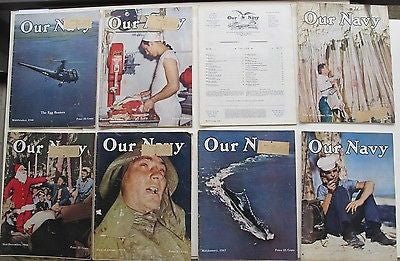 1946-'47 Our Navy. Magazine of the United States Navy. 23 Issues Atomic Bomb