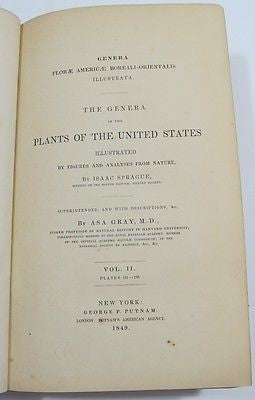 1849 THE GENERA OF THE PLANTS OF THE UNITED STATES Vol. II 86 PLATES
