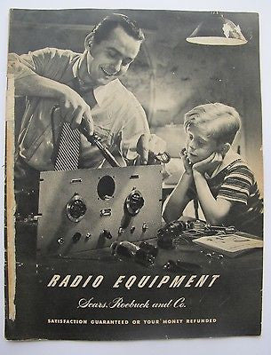 1941. Radio Equipment. Sears, Roebuck and Co. Illustrated. Vintage Radios