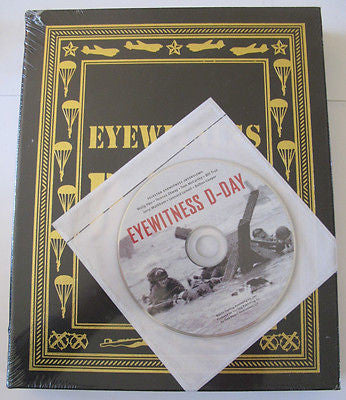Eyewitness D-Day. 2005 Book with DVD interviews. Easton Press. Full Leather. New