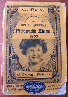1935 British Journal Photographic Almanac Year Book Amateur's Guide Annual Photo