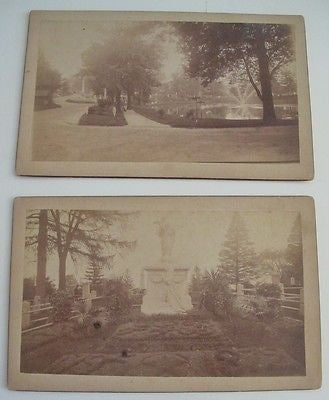"2 Photos Greenwood Cemetery Brooklyn NY ""James Gordon Bennett"" NY Herald"