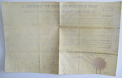 Document Signed in proxy by, Martin Van Buren Jr., Secretary. Land Grant. 1840