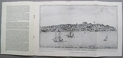 Yorktown and Gloucester Town, 1755 Virginia Signed & Inscribed. York River