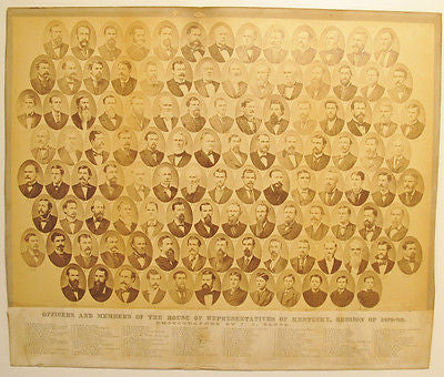 House of Representatives of Kentucky, Session Of 1879 - '80. original Photograph